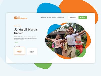 SOS Children's Villages organization donate iceland children non-profit clean playful