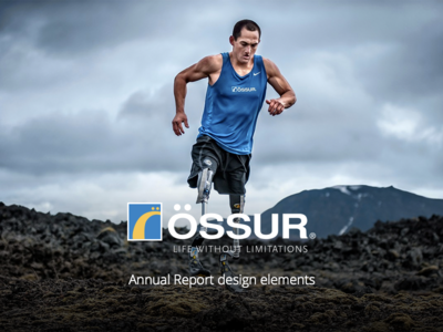 Össur Annual Report minimal clean simple finance data prosthetics annual report business