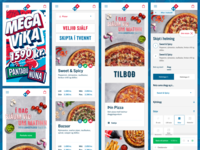 New Dominos Iceland website : Mobile screens
