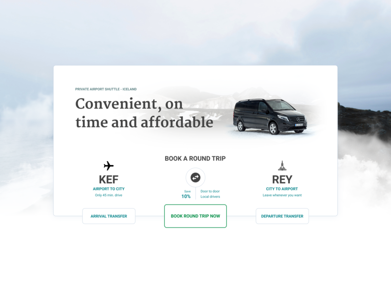 Private Airport Shuttle Widget widget trip transfer iceland airport shuttle booking