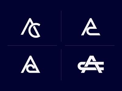AC Monogram Design ui logos vector photographer illustration design graphicdesign brandidentity logodesign logo branding