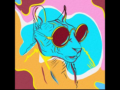 The Sphynx 👓 ipad art ipad pro procreate pop art tshirtdesign tshirt art color colorful vintage cat character animal character animal illustration cute animal art digital drawing digital art illustration