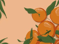 The Tangerine artist artwork food illustration fruits tangerine flat illustration flat oranges orange procreate 2d art 2d ipad colorful digital art drawing digital art illustration