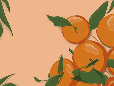 The Tangerine artist artwork food illustration fruits tangerine flat illustration flat oranges orange procreate 2d art 2d ipad colorful digital art drawing digital art illustration