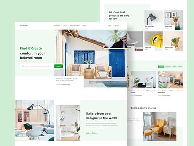 Interior Design Website architecture interior furniture website user interface ios ui