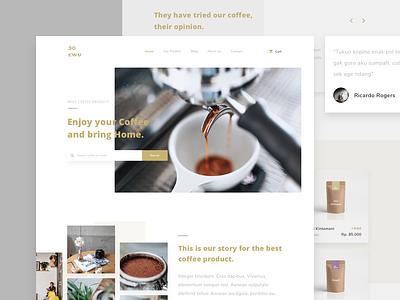 Coffee Shop Website branding typography coffee website ux ui