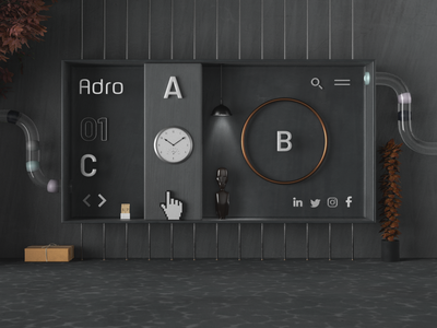 Adro   Website UI/UX Redesign responsive design creative direction modern interactive design website ui  ux user experience art direction
