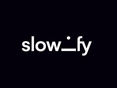 Slowify Logo motion mobile app minimal logodesign flat 2d branding vector typography animation logo animation logo