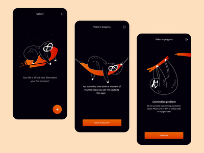 Slowify app illustrations