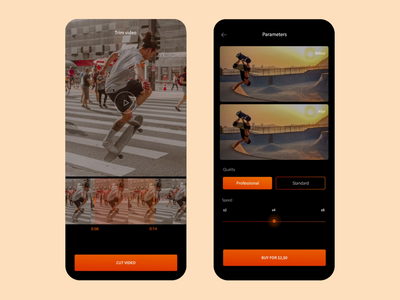 Slowify app video motion machine learning artificial intelligence ai simple dark minimal illustration mobile ui mobile user interface design interface ui application app ux animation product design