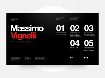 Master Study: Massimo Vignelli