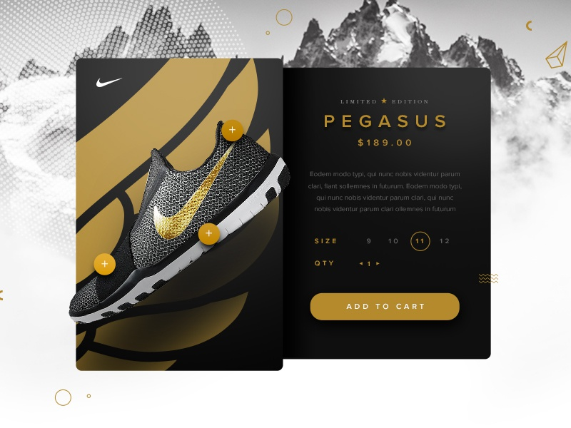Nike product detail page  gurney michael sneakers black gold shoes nike