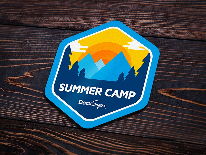 DocuSign Summer Camp Badge 2 forest badge camp summer docusign