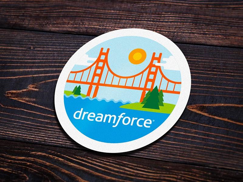 Docusign 'Dreamforce 17' Attendee Badge 2 docusign 17 dreamforce