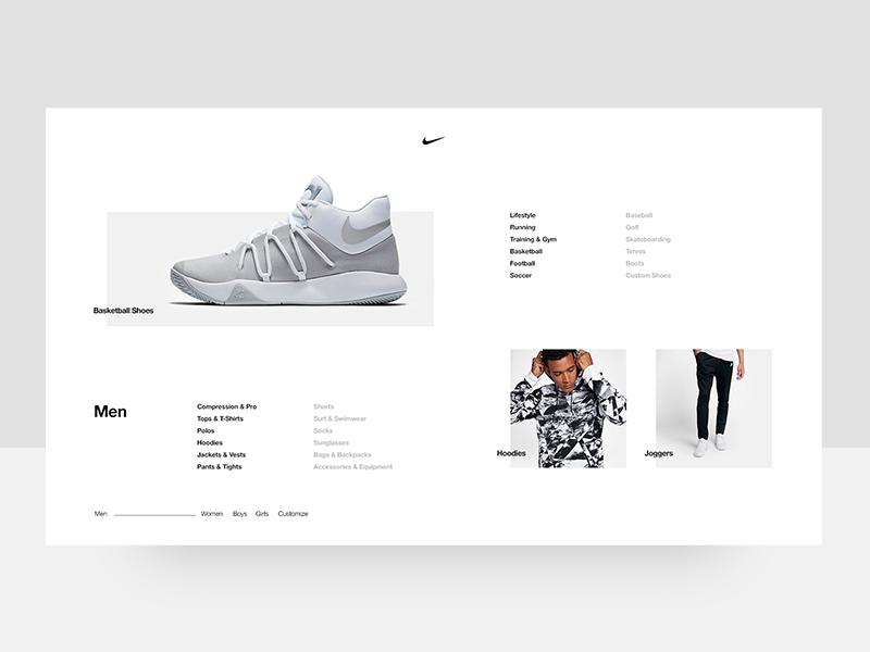 Nike Men's Menu white and black bold contrast interactive nike