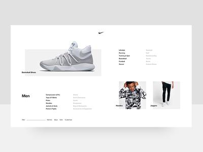Nike Men's Menu