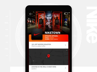 Niketown store detail page