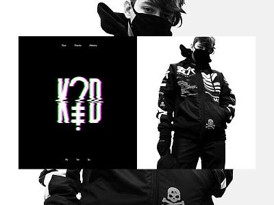 K?D Website Design typography contrast musician kd
