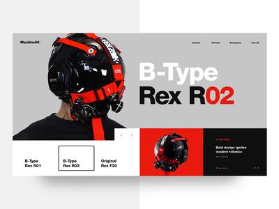 Machine56 Website Design