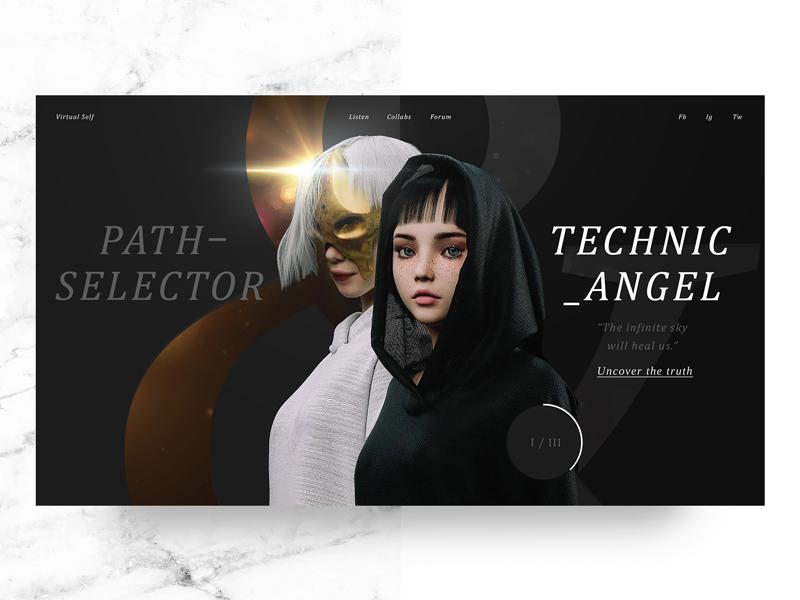 Virtual Self Web Remix balance angel technic- pathselector robinson porter self virtual