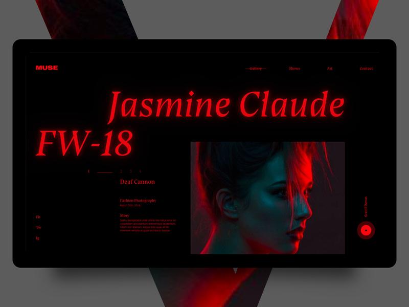 Grid Variation Rebound horror black red fashion dark ui stranger things nike designz gurney mgurney88