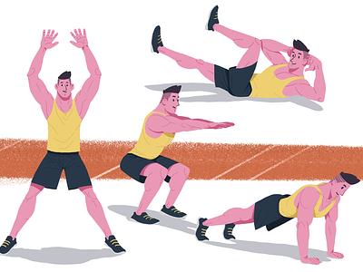 Do u even lift Bro? procreate editorial illustration gym illustration sport illustration gym character design illustration