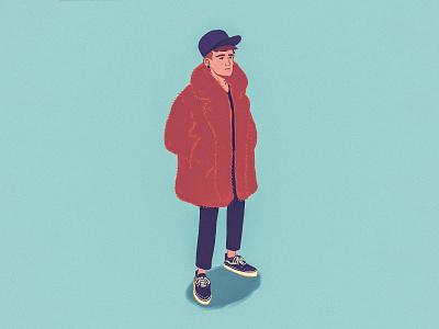 Winter Self Portrait ipadproart drawing minimalistic illustration designs illustration