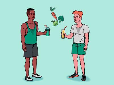 After Sport vegetable fruit juice vegan sport illustration illustration sports design sports branding sport