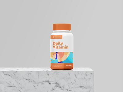 Daily Vitamin Packagin Design packaging mockup packaging design packaging package layout layoutdesign typography illustrator illustration logo graphic  design design