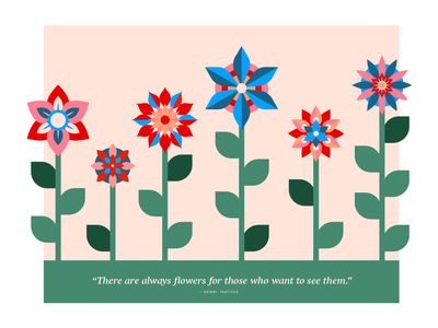 Look For The Flowers // Weekly Warmup illustrations drawing illustration art typography graphic  design design illustrator illustration