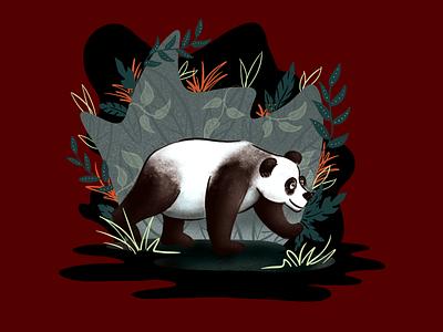 Panda Exploration digital painting digital illustration digitalart illustration art sketching drawing procreate illustrator illustration