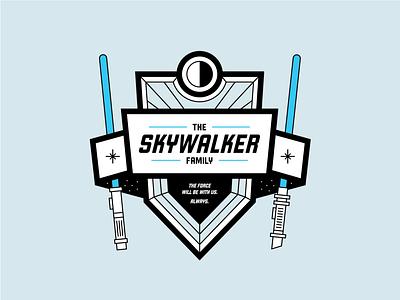 Skywalker Family Crest // Weekly Warmup crest badgedesign badge icon vector drawing illustrator design graphic  design illustration