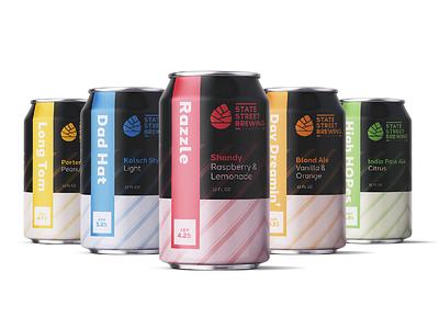 State Street Brewing - Flavor Lineup beer label beer can beer package mockup packagedesign package packaging graphic  design design