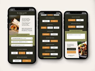 Blank Slate Burrito // UX Design layoutdesign vector graphic  design web icon app layout design ux ui
