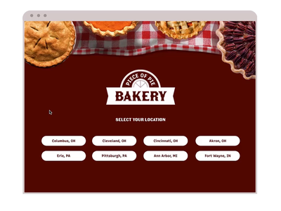 Piece Of Pie // ProtoPie Weekly Challenge user interface design user interface web design webdesign ux ui