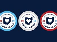Proud Voter Badges