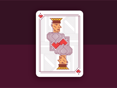 King of Hearts - Playing Card Design illustrative playingcards playing card layoutdesign illustrator layout illustration graphic  design design