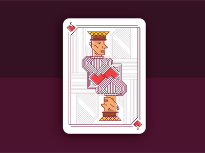 King of Hearts - Playing Card Design