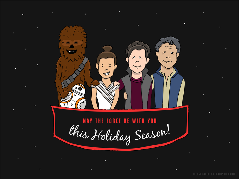 Star Wars Seasons Greetings // Weekly Warmup characters character drawing art illustration art vector illustrator illustration graphic  design design