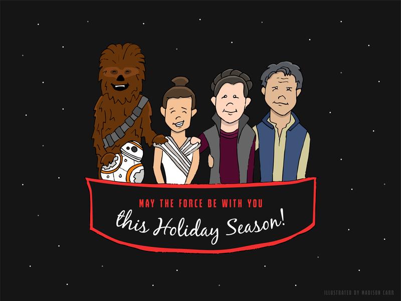 Star Wars Seasons Greetings // Weekly Warmup characters character drawing art illustration art vector illustrator illustration graphic  design design