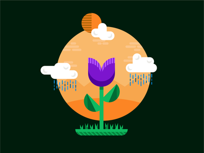 Desert Spring Illustration color art drawing illustration art illustrator graphic  design design illustration