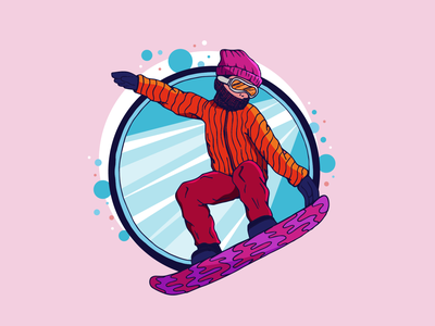 Shredding On The Slopes character design character illustration art colorful colors color drawing illustrator design graphic  design illustration