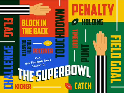 Guide To The Superbowl vector illustration art design infographic infographics layoutdesign layout typography illustrator illustration graphic  design
