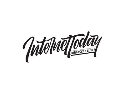 Internet Today lettering concept typography lettering design lettering logo lettering artist vector logo design lettering