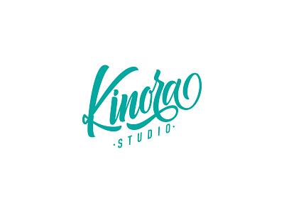 Kinora Studio Logo branding vector typography logo lettering logo lettering design
