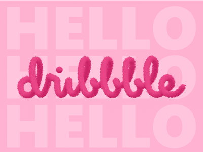 Hello Dribbble design typography icon logo hello hellodribbble ui ux illustration app illustrator
