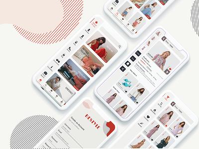 Shopping App minimal web branding icon design clothes shop ecommerce app service ui ux app shopping