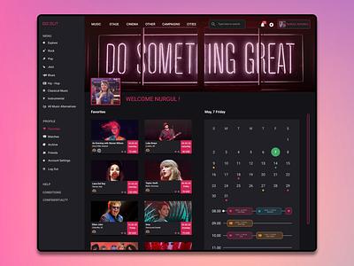 Event Discovery Website Design flat branding web profile calendar event app app dashboard design dashboard ui dashboad ui ux ecommerce app