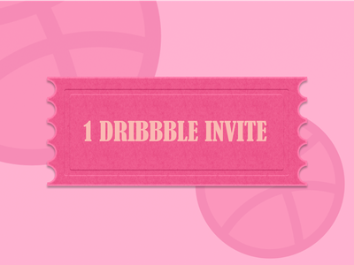Dribbble Invite Giveaway sketch figma design ecommerce app logo icon illustration branding identity design uı ux ticket dribbble invitation dribbble invite invitations identity exibition barcode