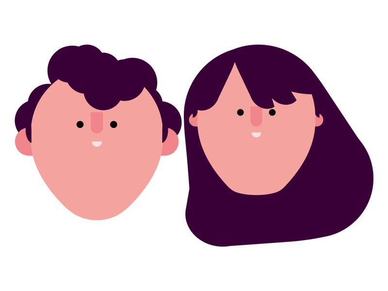 Siblings vector gentleman people lady characters character design character illustration